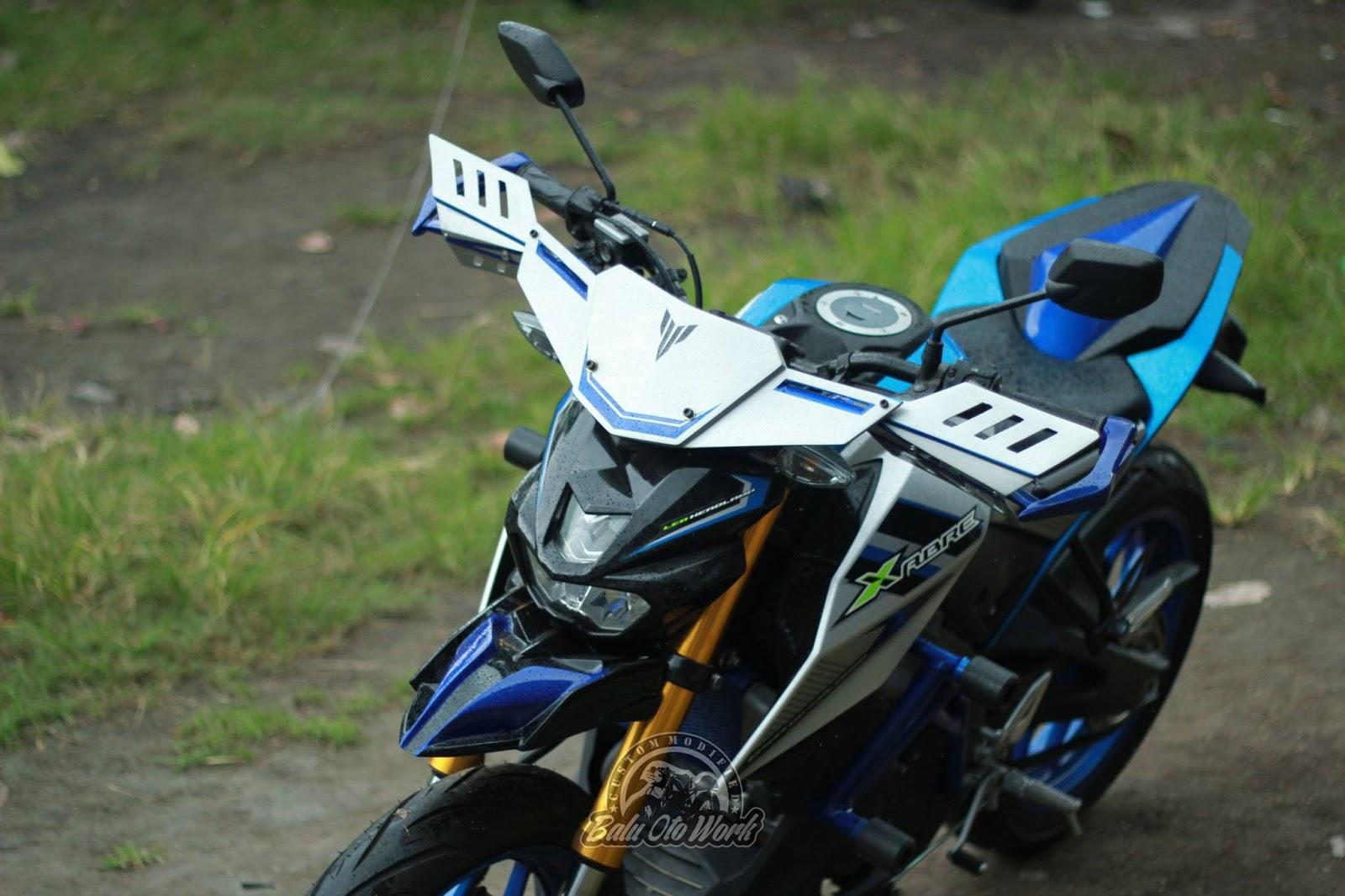 Terinspirasi dari moge Yamaha MT 09 Street Rally . . modifikasi simpel Yamaha Xabre 150 by Balu Oto Work ini keren juga . .