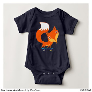 https://www.zazzle.com/fox_loves_skateboard_baby_bodysuit-235726326956804407