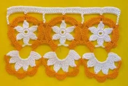 Patrón #1475: Puntilla a Crochet