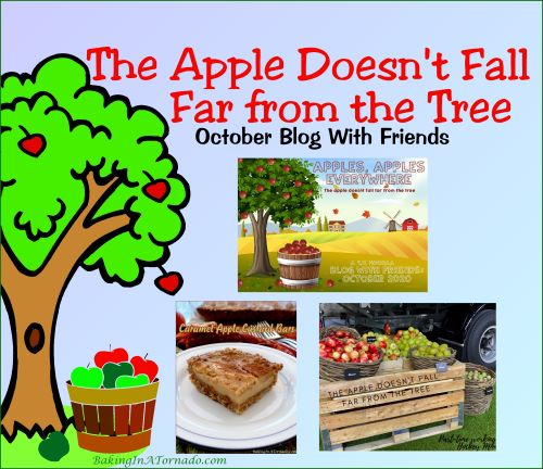 Blog With Friends, a multi-blogger project based post incorporating a theme, The Apple Doesn't Fall Far from the Tree | Graphic designed by and property of www.BakingInATornado.com