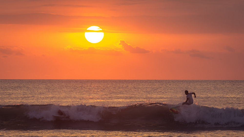 Sunset In Bali, Suluban Beach, Uluwatu