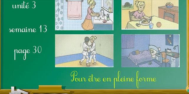 activités orales Pour être en pleine forme u3 sem 13 mes apprentissages en fr