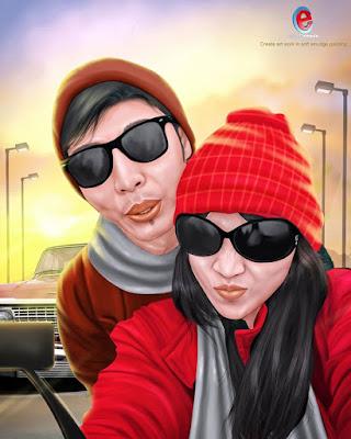 Smudge 3D : Pasangan Couple