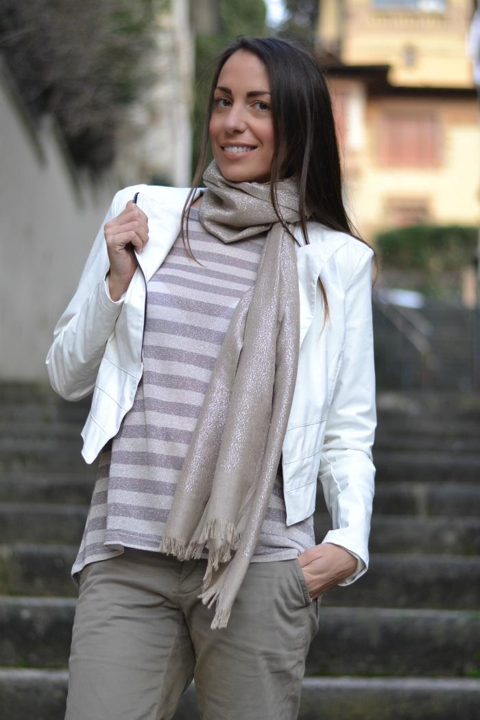 maglia righe lurex