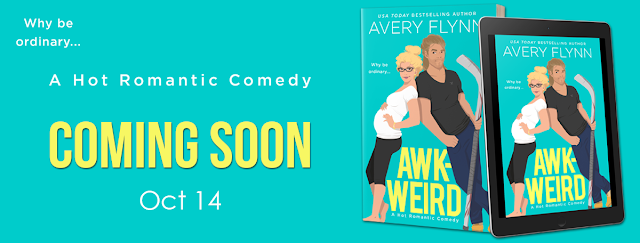 Cover Reveal ~ Awk-Weird (Ice Knights Book 2) by Avery Flynn