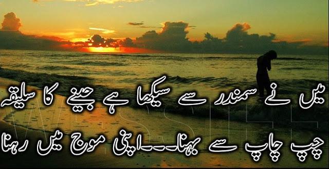 latest status for whatsapp 2017 urdu poetry in urdu Mai ne samundar se sekha hai jeene ka saleeqa
