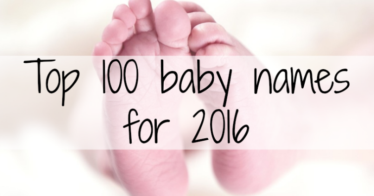 Northumberland Mam: Top 100 baby names for 2016