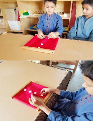 Montessori Button Frame Activity