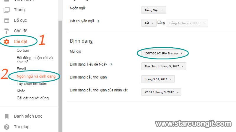 Sửa Lỗi Blogspot Không hiển thị đúng thời gian Bài Viết