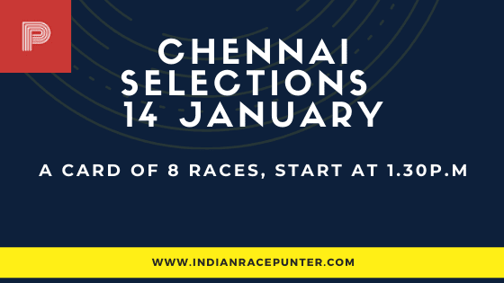 Chennai Race Selections 14 January