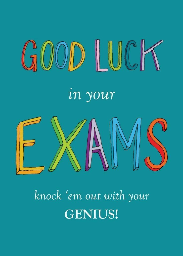 best wishes for exams cards