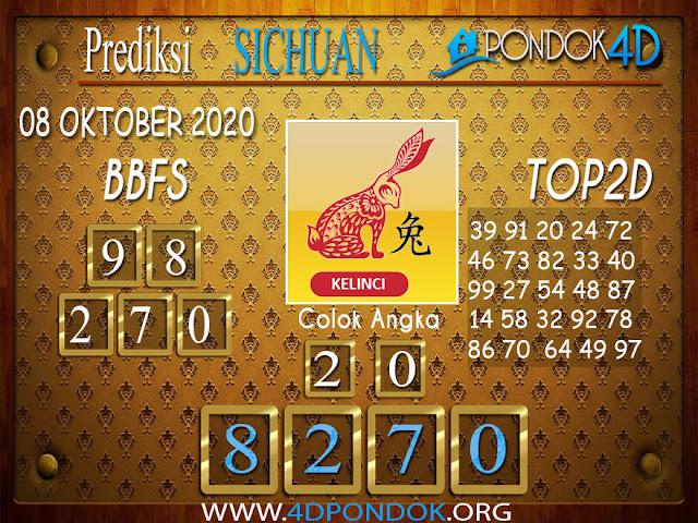 Prediksi Togel SICHUAN PONDOK4D 08 OKTOBER 2020
