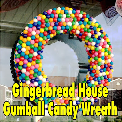 Turn your house into an old fashioned Gingerbread house with a Gumball candy wreath.  This wreath is so easy to make and will have all the kids wanting to come and enjoy the holidays with you.