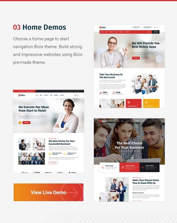 Bizix  Corporate and Business Free WordPress Theme