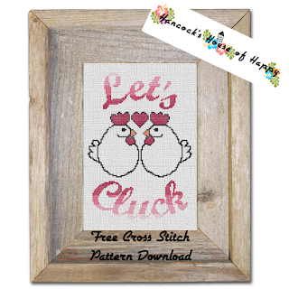 free snarky rude chicken cross stitch pattern.