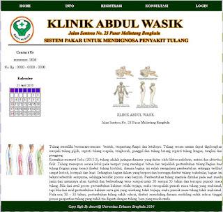 Aplikasi Sistem Pakar Penyakit Tulang Php Mysql