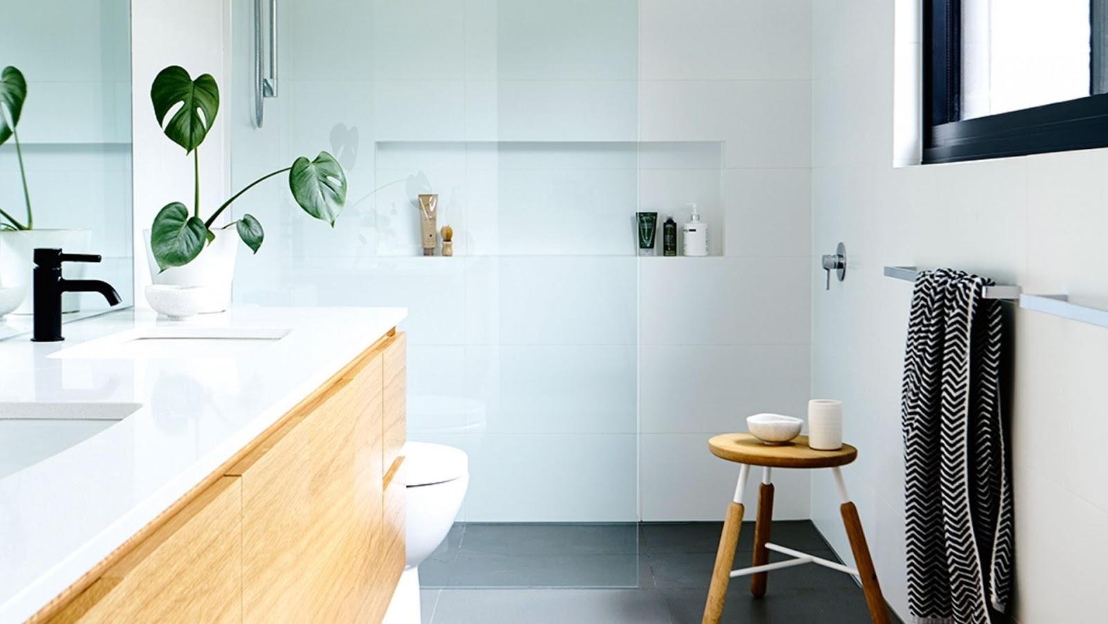 Panqueca na Parede: Nicho embutido para banheiro beleza e  #B47517 1600 901