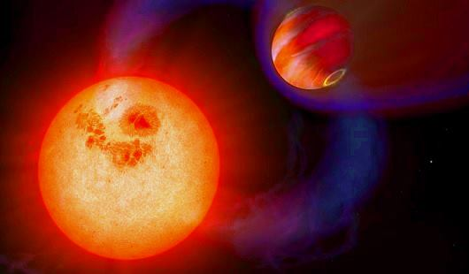 planeta extrasolar con orbita excentrica