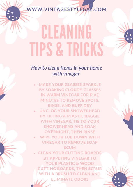 Cleaning tips and tricks with vinegar