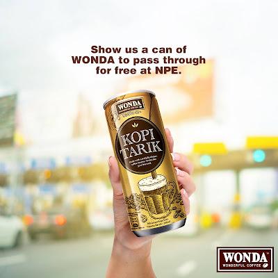WONDA Coffee at the NPE toll (Pantai Dalam Timur & Barat)