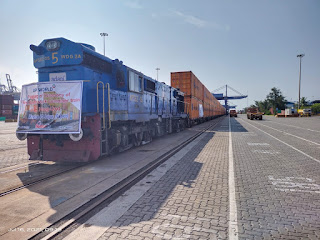 Double-stack train reached Jaipur with 180 empty containers