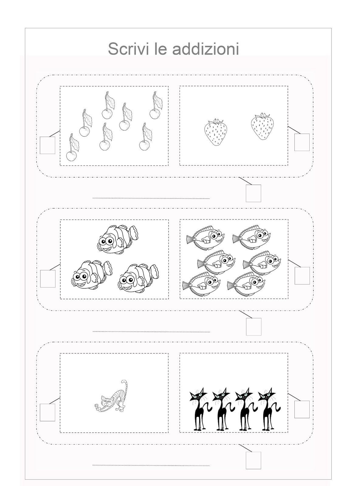 Favoloso Scuola di pensiero: Schede didattiche: addizioni per la prima  QY18