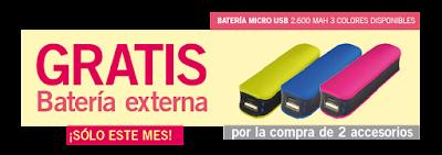 Batería externa gratis