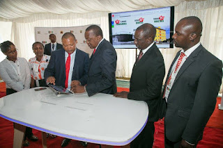 President Kenyatta launches Public information Portal in Nairobi. PHOTO | Courtesy