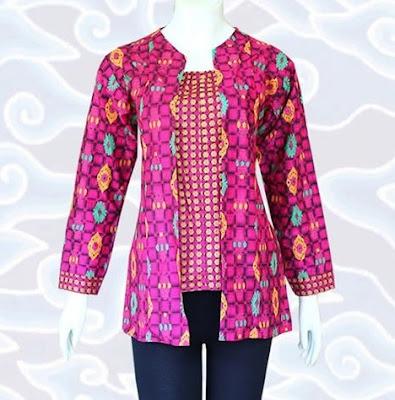 Desain Baju Batik Modern Kerja