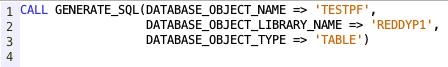 Generate SQL in IBM i