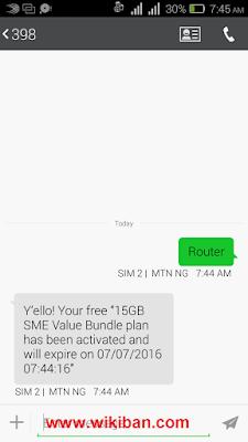 Get 15GB free on MTN