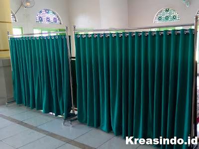 Harga Hijab Masjid Stainless atau Pembatas Sholat atau Partisi Masjid Terbaru