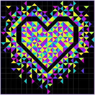 Exploding Heart quilt pattern by Slice of Pi Quilts