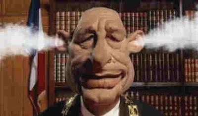 caricature Chirac qui fume par les oreilles
