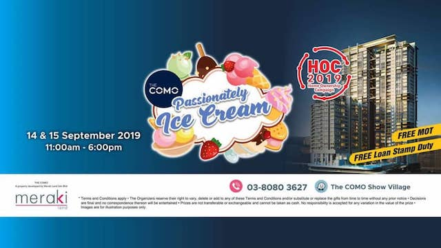 Drop by The COMO's Passionately Ice Cream Event this weekend!