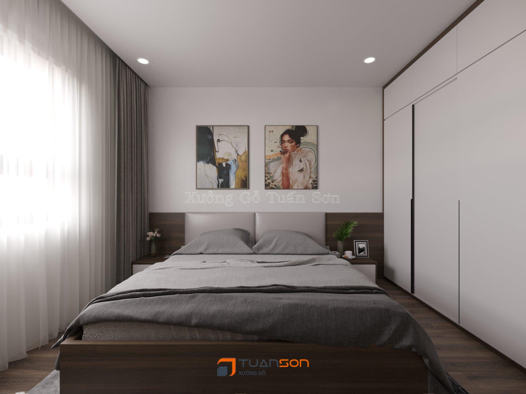 Thiết kế nội thất căn hộ 3 phòng ngủ (77m2) Eurowindow River Park Đông Trù