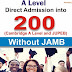2019/2020 UNILAG JUPEB Admission Form Now Available