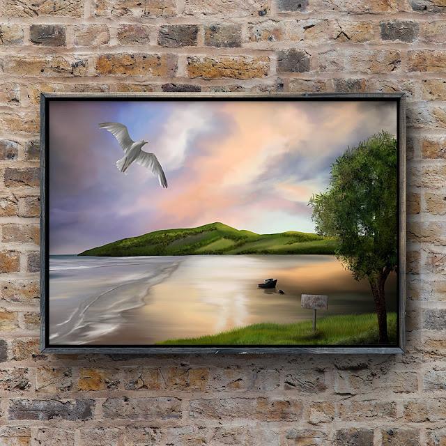 Low Tide, Artwork by Mark Taylor, Beechhouse Media, Landscape artist,