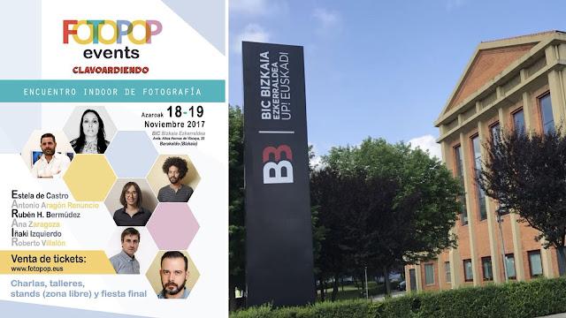Cartel de Fotopop Events y de BIC Bizkaia Ezkerraldea