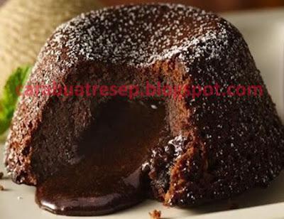 Foto Resep Molten Lava Cokelat Cake Sederhana Spesial Meleleh Asli Enak