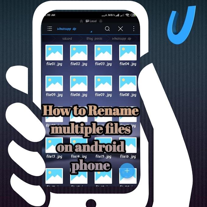 how to rename multiple files at once on android phone  | बहुत सारी फाइलों का नाम एक साथ बदलें फोन पर।
