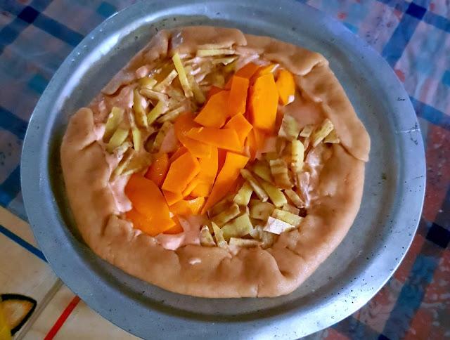 Pumpkin Sweet Potato Galette Recipe @ treatntrick