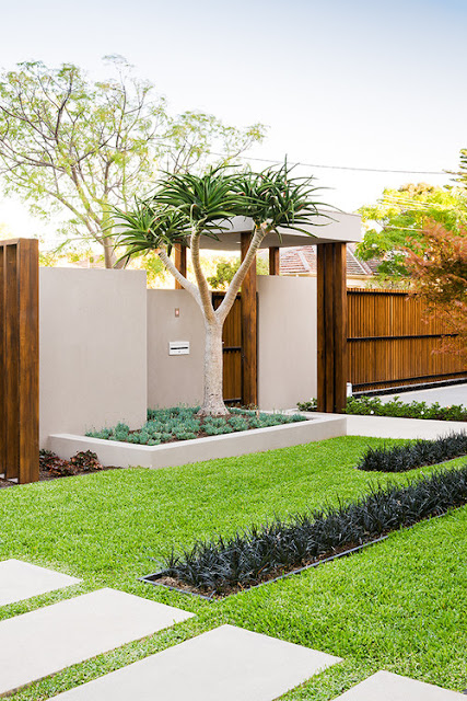 gradina minimalista design gradina peisagist gradini moderne gard simplu beton gard minimalist design poarta arhitectura minimalista peisagist proiect gard si gradina