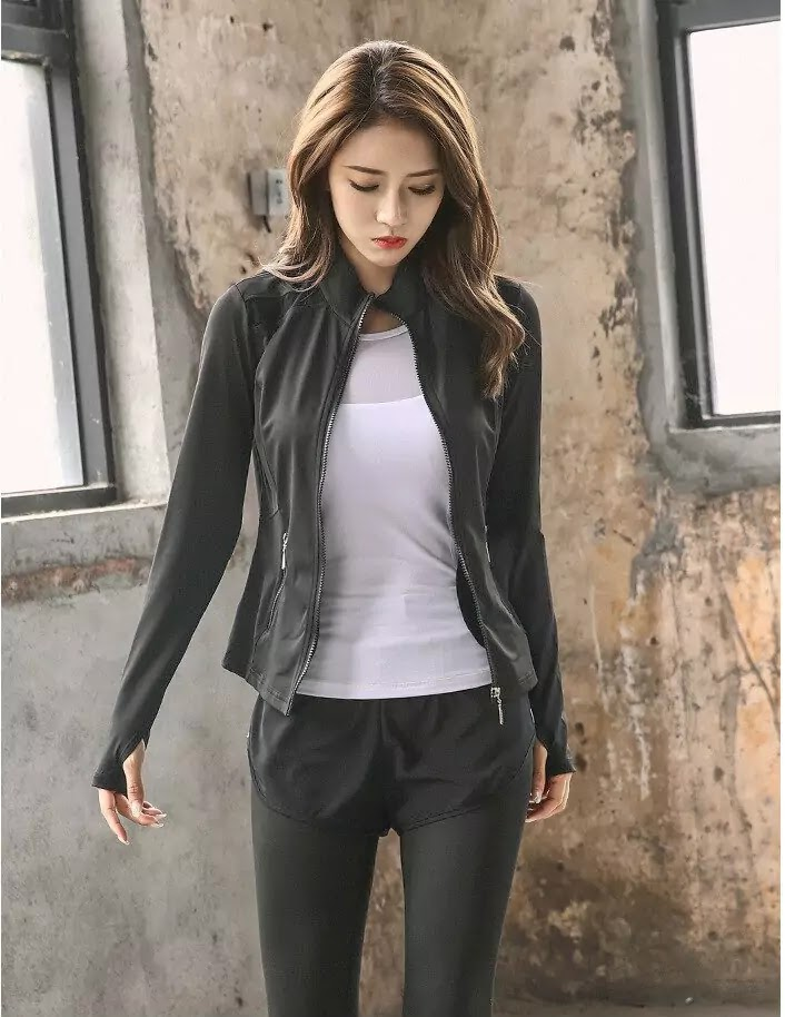 Fitted Womens Yoga Jacket