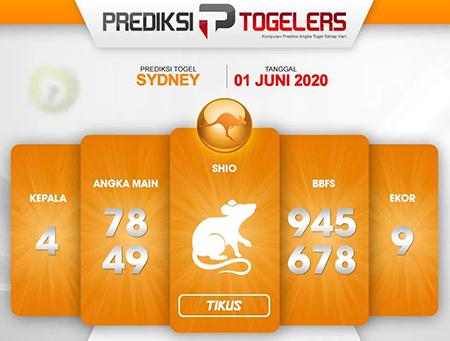 Prediksi Togel Sydney Senin 01 Juni 2020 - Prediksi Togelers