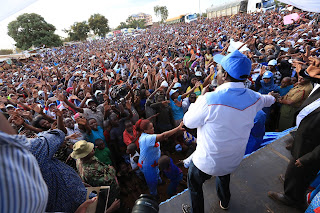 Wiper leader Kalonzo Musyoka at Emali, Makueni. PHOTO | Courtesy