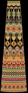 Black Base Jewelry Print Lehenga Textile Digital Design - Front 2739