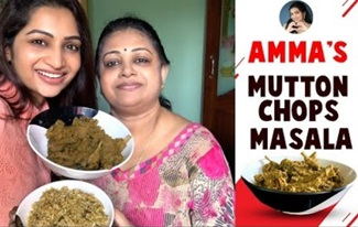 Amma's Mutton Chops Masala | Homemade Recipes | Cook with Nakshu