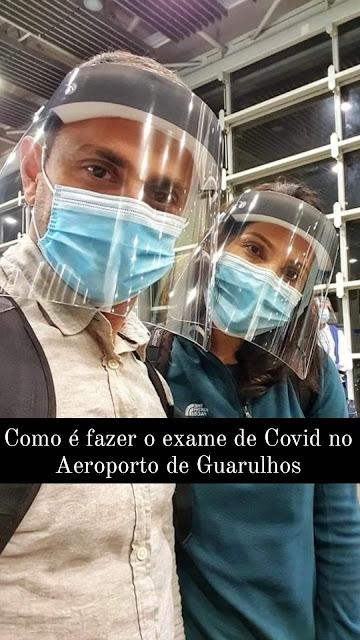 exame de Covid no Aeroporto de Guarulhos