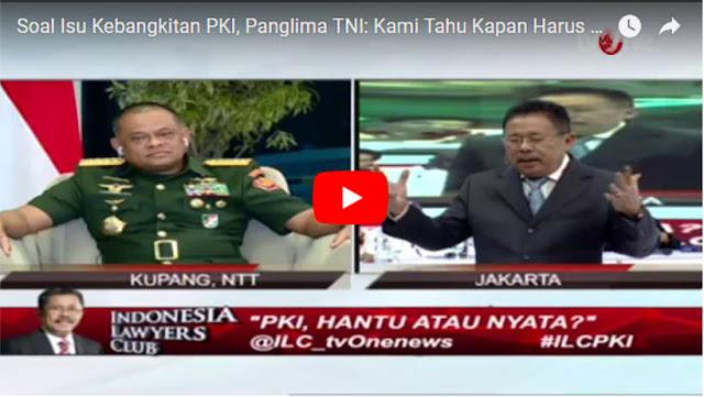 Panglima TNI di ILC Soal PKI: Biar Kami yang Mengamati, Kami Tahu Kapan Kami Akan Bergerak